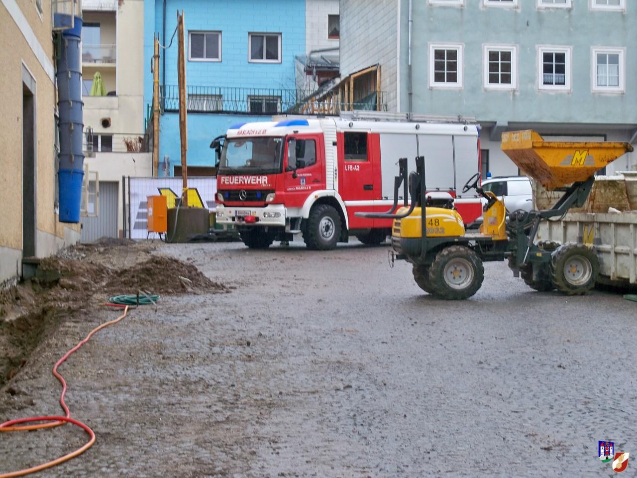 Gasgebrechen im Ortszentrum