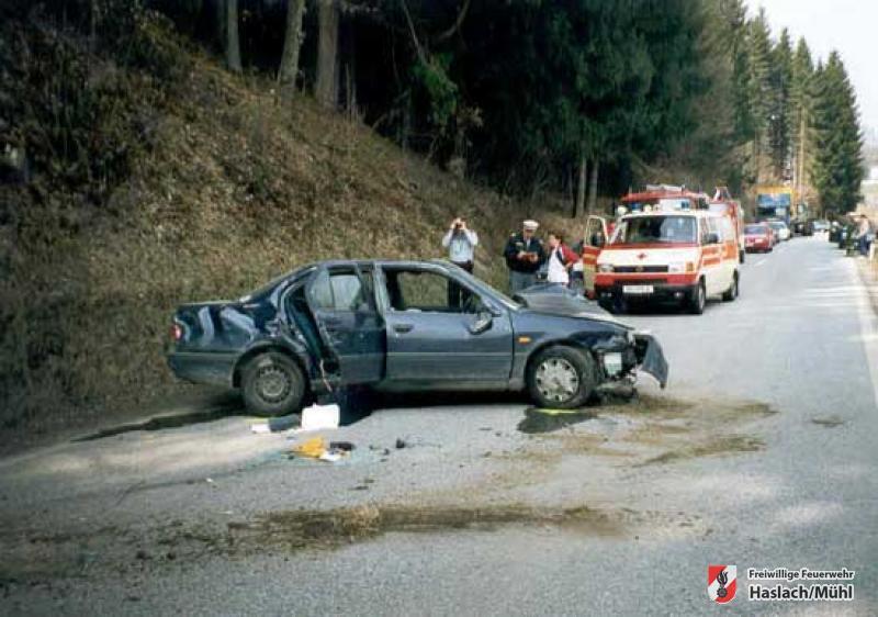 Verkehrsunfall nahe ehemaliger Kläranlage