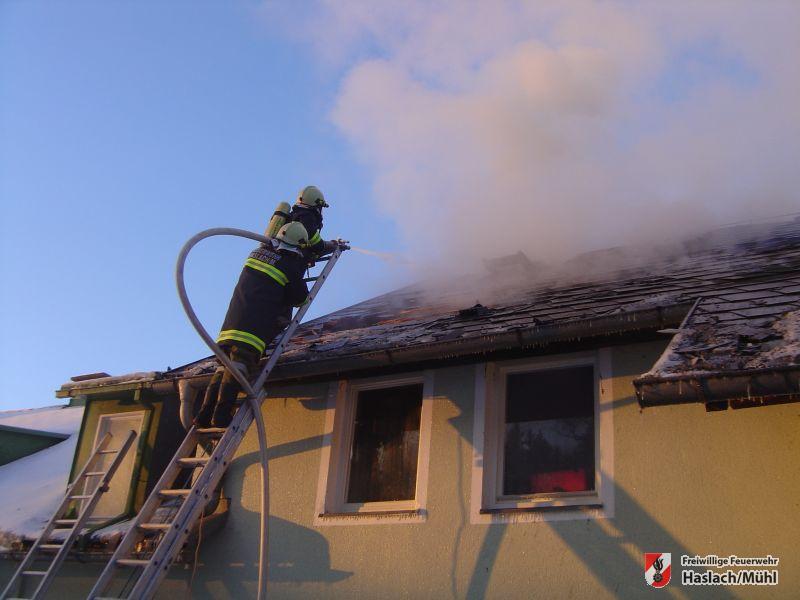 Alarmstufe III in Führling – Brand Haus Sanitas