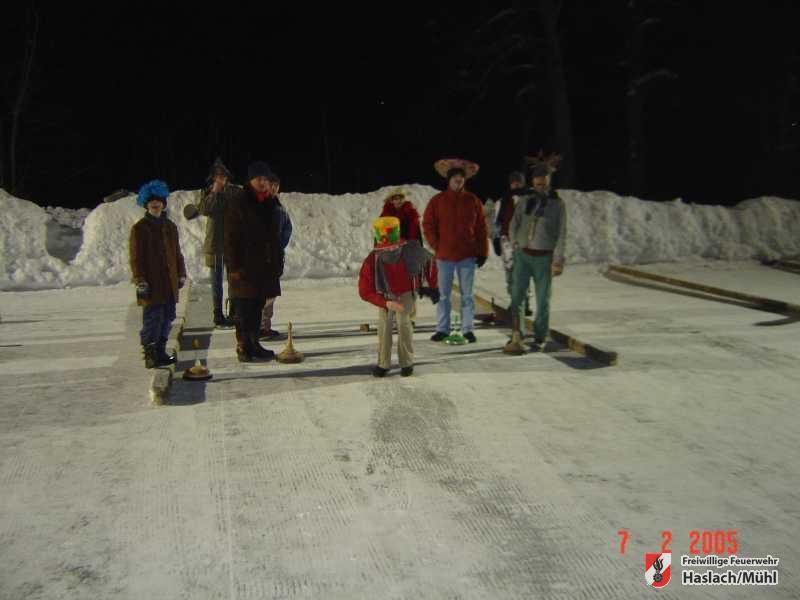 Eisstockschießen Fasching