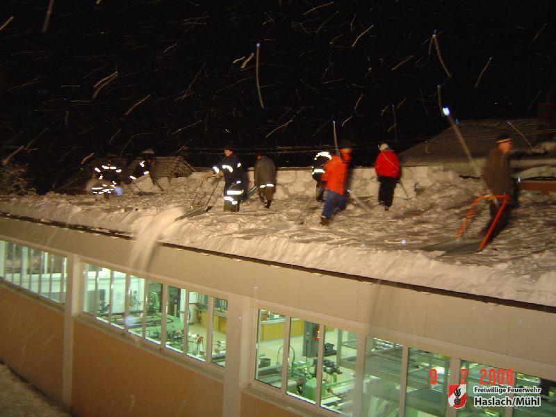 Erneute Einsätze nach Schneefällen