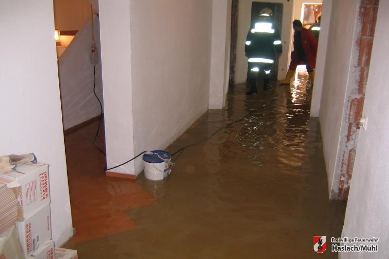 Kellerüberschwemmung in Bärenholz