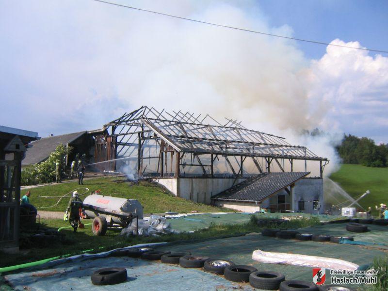 Brand in Nößlbach – Alarmstufe II