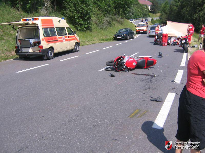 Verkehrsunfall in Unterriedl