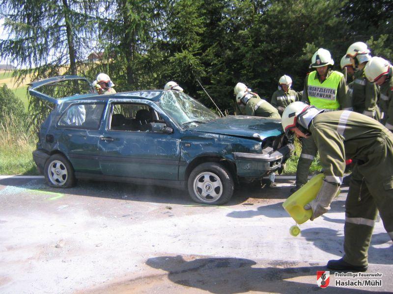 Verkehrsunfall in Raiden