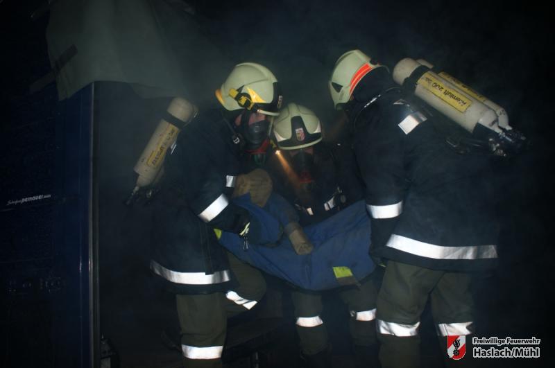 Atemschutzbereichsübung