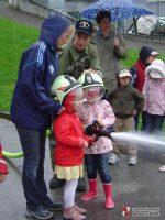 Kindergarten Besuch bei der FF und Räumungsübung