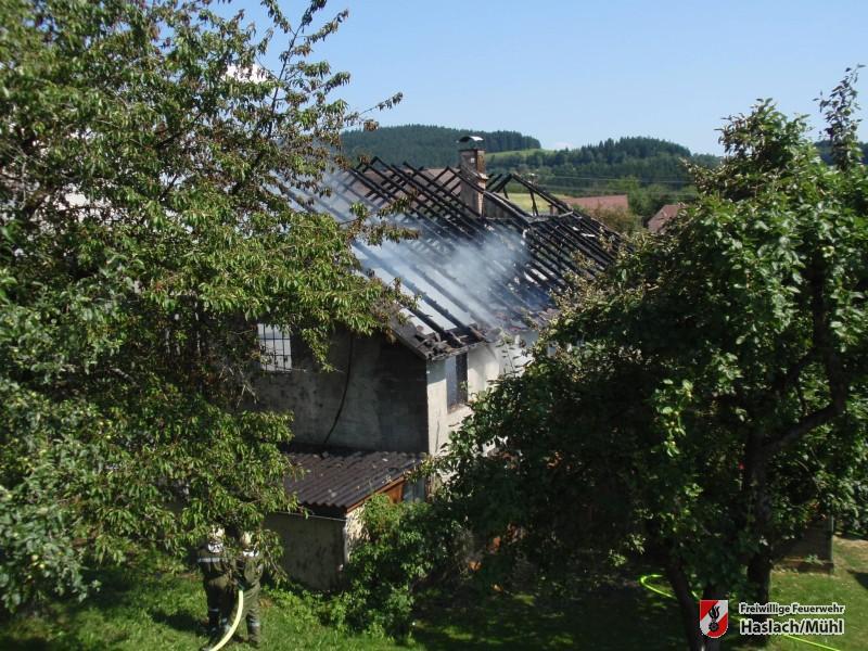 Brand landwirtschaftliches Objekt in Hörleinsödt