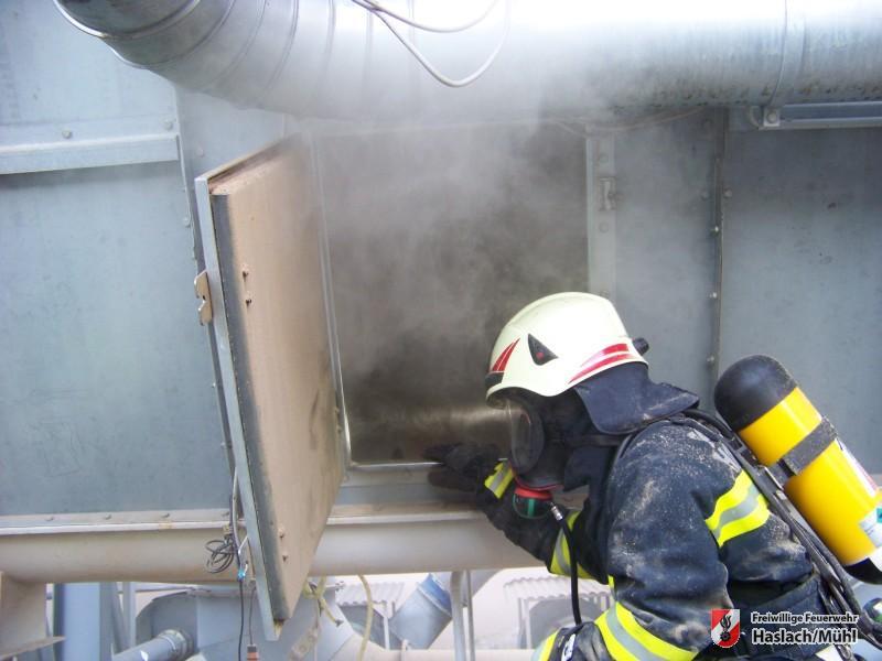 Glimmbrand einer Filteranlage