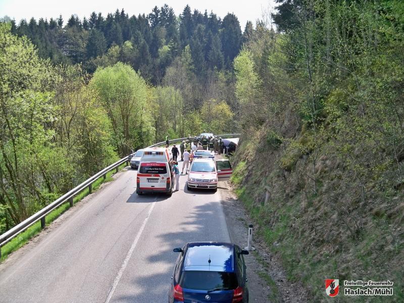 Verkehrsunfall bei der Kläranlage
