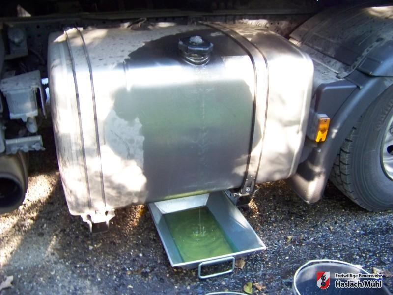 Dieselaustritt aus LKW