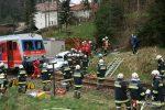 Frühjahrsübung Zug kollidiert mit einem PKW