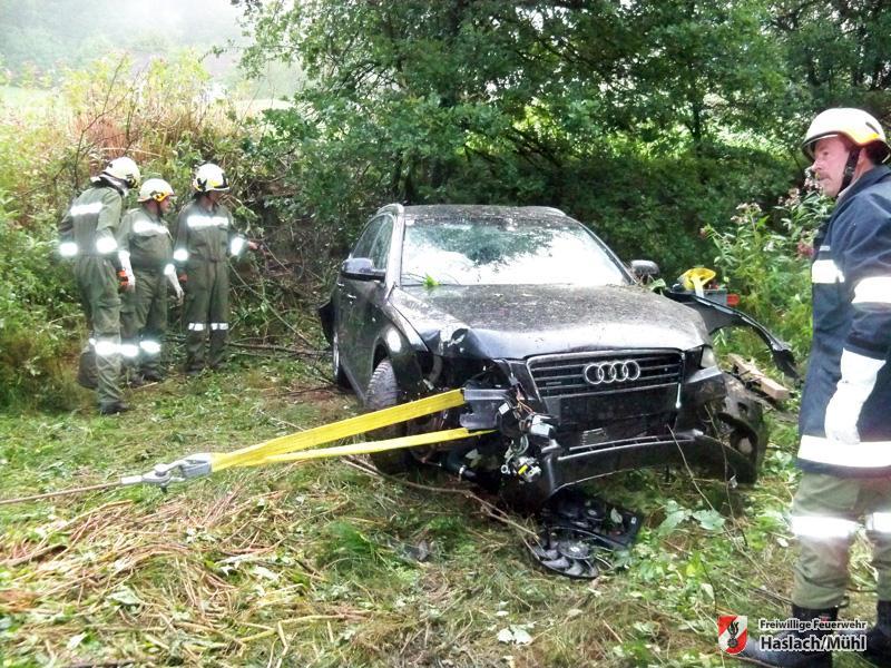 Autobergung nach Verkehrsunfall
