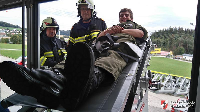 Hoch hinaus im Feuerwehrmedizinischem Dienst