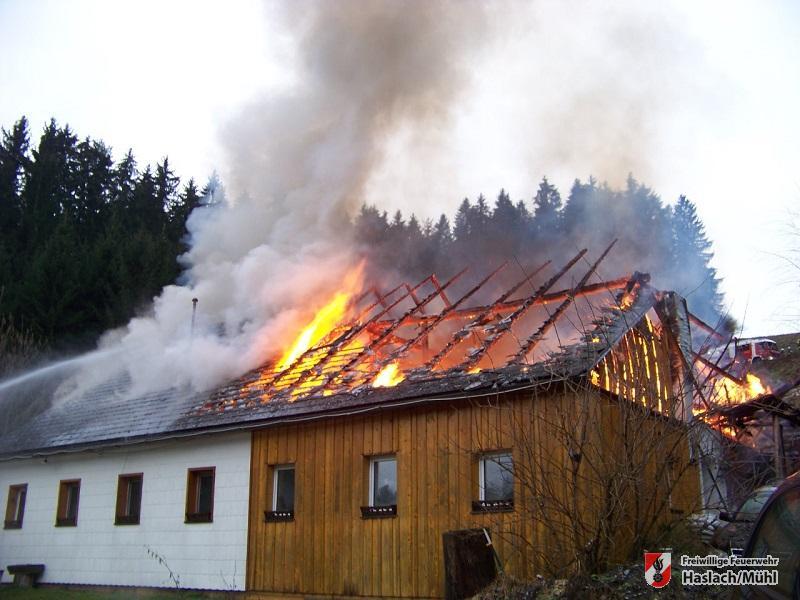 ausgedehnter Brand in Rohrbach-Berg