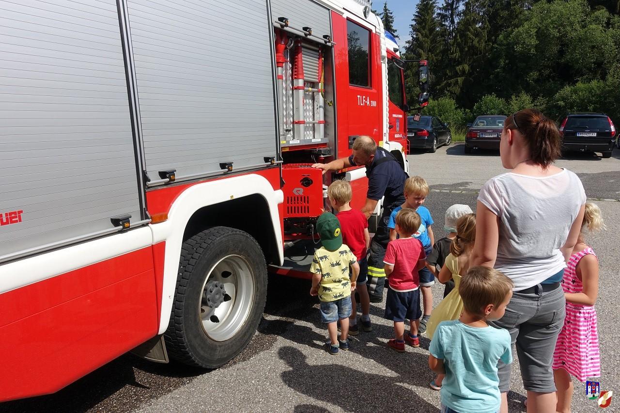 Räumungsübung im Kindergarten Haslach