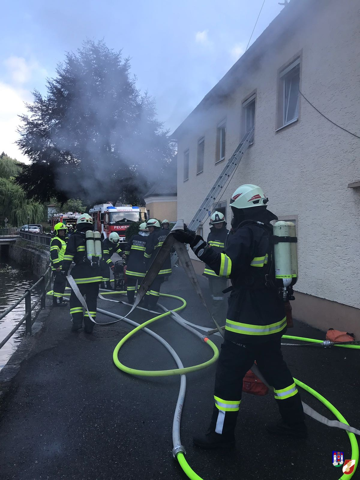 Übung: Wohnhausbrand in Helfenberg