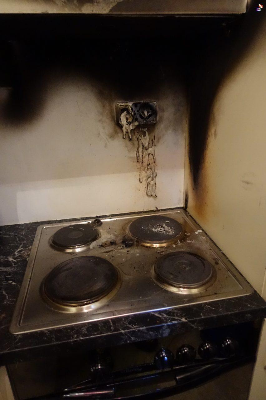 Küchenbrand im 3. Obergeschoß