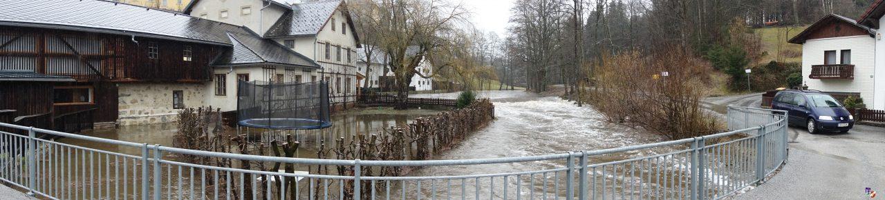Überflutung in Haslach