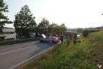 Straßensperre nach Verkehrsunfall
