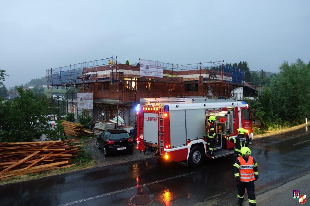 Starker Gewitterregen in Haslach