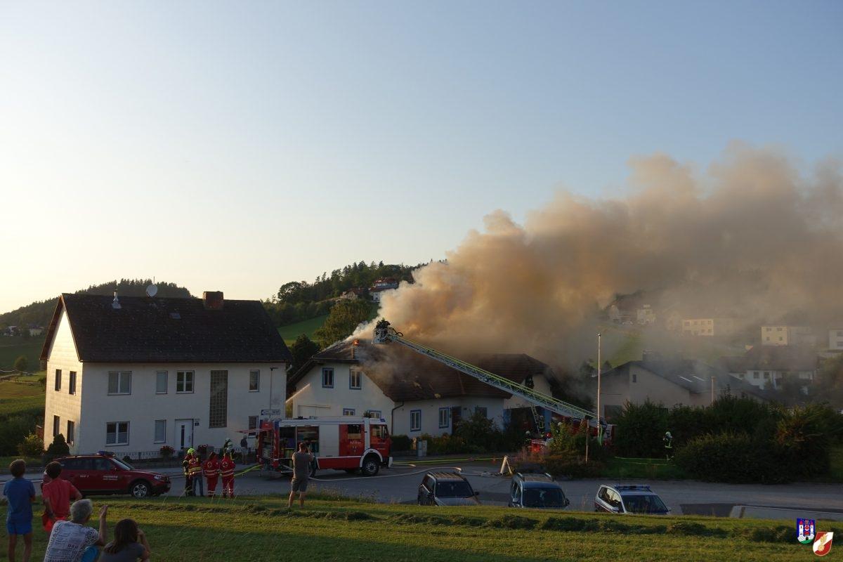 Wohnhausbrand in Rohrbach