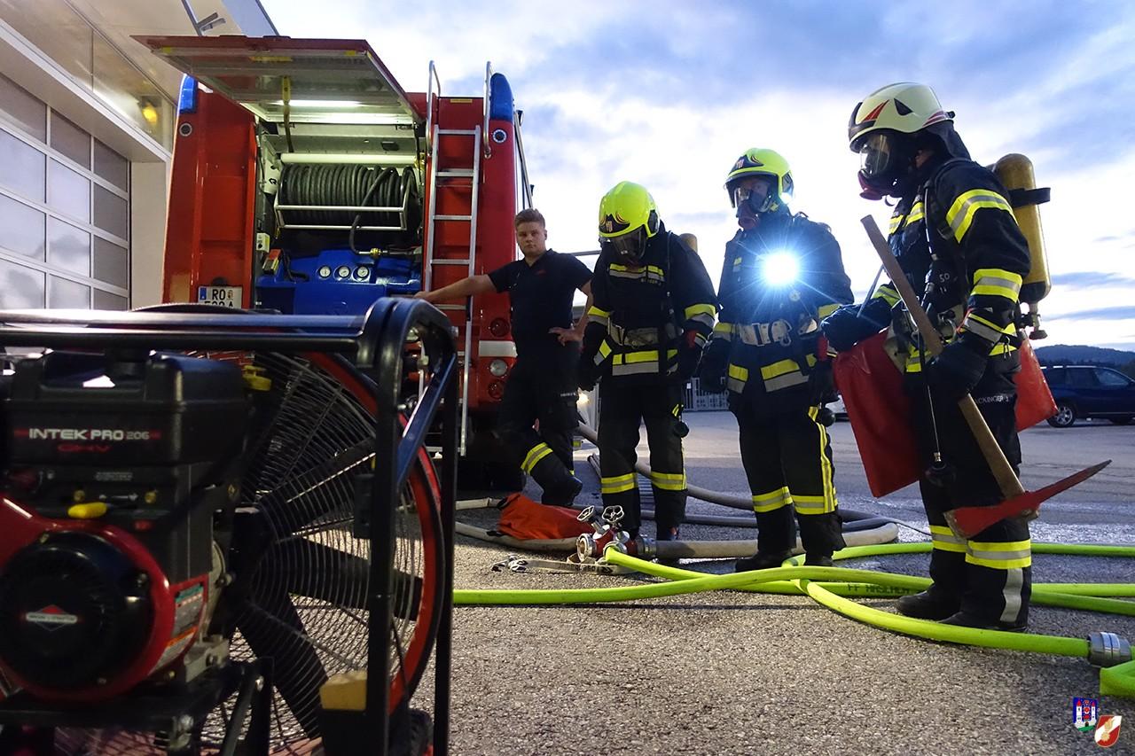 gemeinsame Atemschutzübung in Haslach