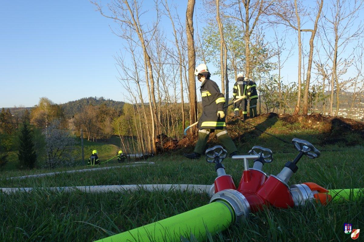 Flurbrand auf einem Hügel