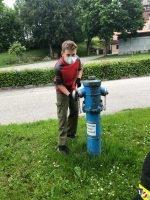 Erste Jugendübung nach Coronapause