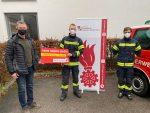 Spende für die Feuerwehrjugend Haslach