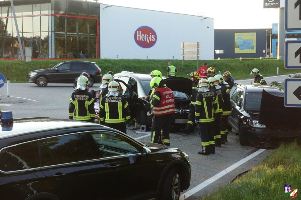 Verkehrsunfall bei Hofer Kreuzung in Rohrbach